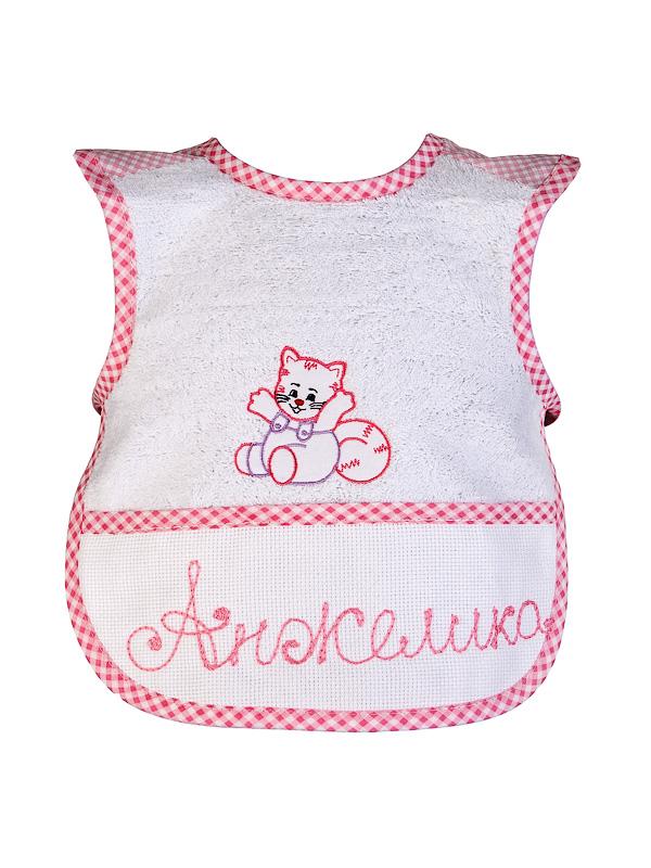 Нагрудничек (платье) с вышивкой, розовый Бабушкин Узор