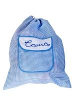 Мешочек (рюкзак) большой, голубой, Бабушкин Узор