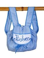 Рюкзак детский маленький, Бабушкин Узор, голубой