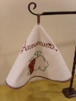 Кухонное полотенце - скатерть вафельное, бордовое  Бабушкин Узор