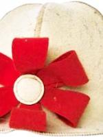 Шапочка банная Кокетка-цветочек Бабушкин Узор