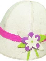 Шляпка банная Цветочек Объемный Бабушкин Узор